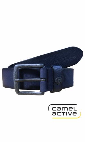 camel active Ledergürtel blau