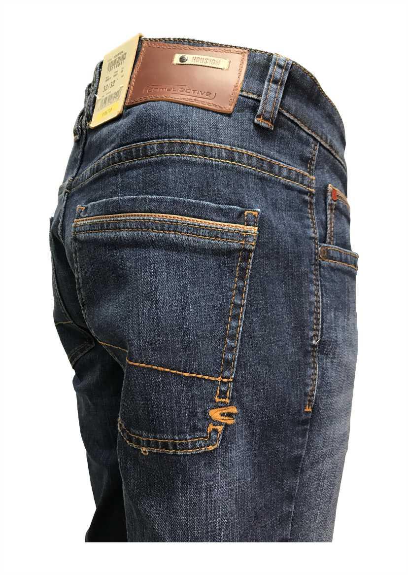 camel active Jeans HOUSTON blue used + Ledergürtel GRATIS