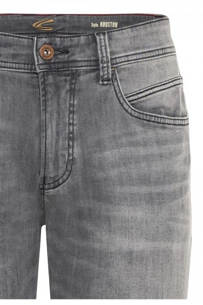 camel active Jeans HOUSTON grau-used + Ledergürtel GRATIS