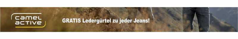 Gratis Ledergürtel zu jeder camel active Jeans