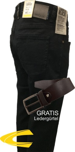 camel active HOUSTON black/black + Ledergürtel GRATIS